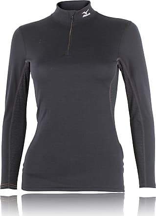 Mizuno Breath Thermo Half Zip Long Sleeve Womens Running Top - X Small Black