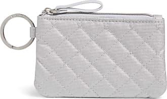 Vera Bradley Womens Zip ID Case, Silver Pearl, One Size