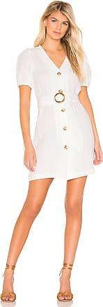 J.O.A. Puff Sleeve Dress in White