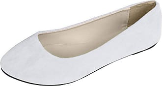 Vdual Women Ladies Slip On Flat Comfort Walking Ballerina Shoes Size UK 2.5-8 White