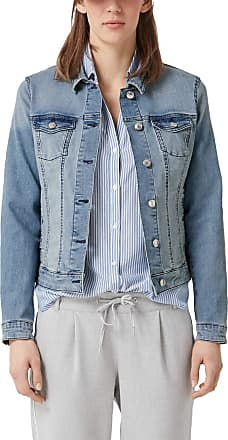 s.Oliver Womens 14.902.51.2297 Jacket, Blue (Blue Denim Non Stretch 53y6), 10 (Size: 36)