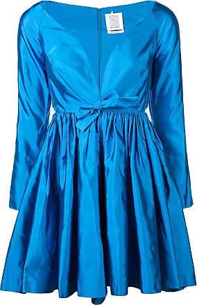 Rosie Assoulin Vestido de seda com decote V - Azul