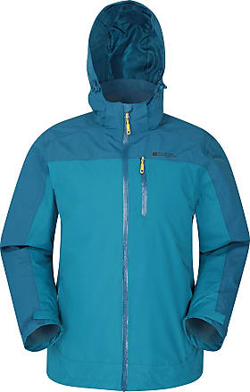 Mountain Warehouse Rayhill Mens Waterproof Jacket - Lightweight Rain Jacket, Breathable, Taped Seams Raincoat, Adjustable Fit, Pockets - for Winter, Hiking, Travelling P