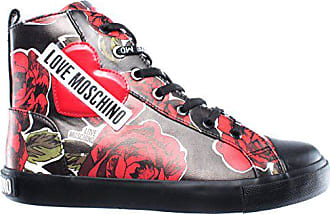 Love Moschino Damen Schuhe High Top Sneaker SCA Nod Gomma 30 Nappa Pu Rose  NER e8763cf668
