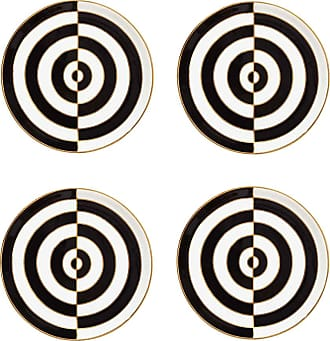 Jonathan Adler Op Art Porcelain Coasters - Black/White - Set of 4