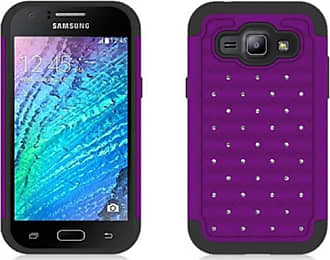 Mundaze Mundaze Purple Diamond Double Layered Case for Samsung Galaxy J1 2015
