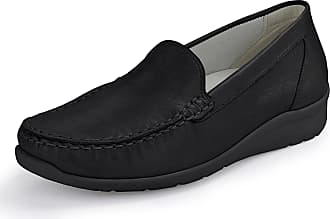 Waldläufer Hinata moccasins in calf leather Waldläufer black