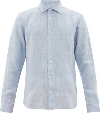Orlebar Brown Giles Linen Shirt - Mens - Blue