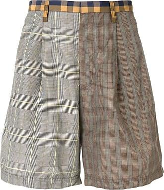 Kolor contrast check shorts - Brown