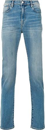 Paul Smith Calça jeans reta cintura alta com efeito desbotado - Azul