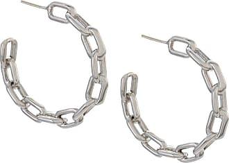 Jack Vartanian Par de brincos argola Chain P prata com ródio branco - Metálico