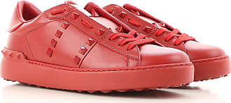 Valentino Sneakers for Women, Red, Leather, 2017, 5 6