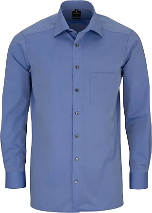 Olymp Olymp Mens Shirt Modern Fit Extra Long Sleeve - Blue - 42