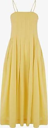 Three Graces London Lucia Dress in Cornflower Yellow
