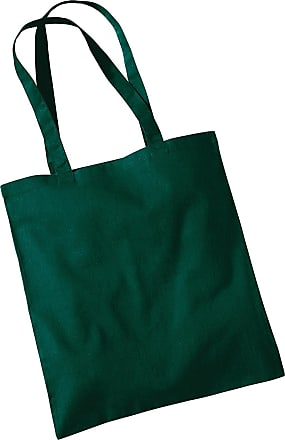 Westford Mill Womens Cotton Promo Shoulder Tote Carry Bag Bottle Green One Size