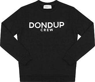 Dondup Felpa Uomo in Cotone nera con Logo UF617KF0136 Nero XL