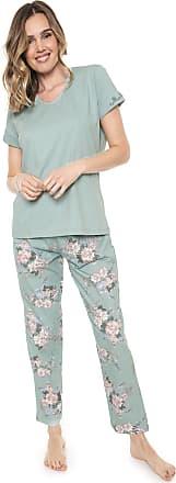 Pzama Pijama Pzama Floral Verde