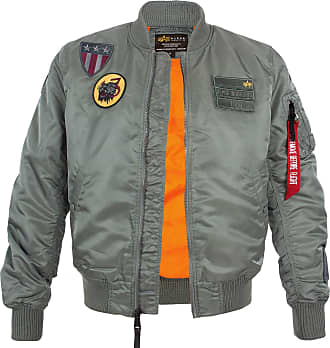 Alpha Industries MA-1 Air Force Fliegerjacke vintage green, Größe XXL