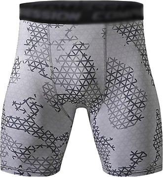 YiJee Mens Fitness Tight Shorts Quick Dry Running Shorts Compression Base Layer 2As Picture L