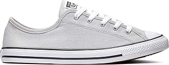 Converse Chuck Taylor All Star Dainty GS Canvas OX Trainers Women Grey - UK:7.5 - Low top Trainers