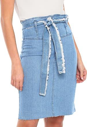 3a52b649bf MOB Saia Jeans MOB Curta Clochard Azul