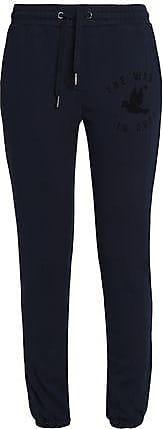 Zoe Karssen Zoe Karssen Woman Printed Cotton-blend Terry Track Pants Midnight Blue Size XS