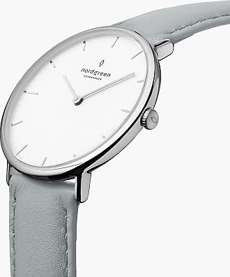 Nordgreen Native | White Dial - Dove Grey Vegan Leather - 32mm / Rose Gold