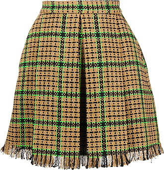 Msgm checked tweed mini skirt - Brown