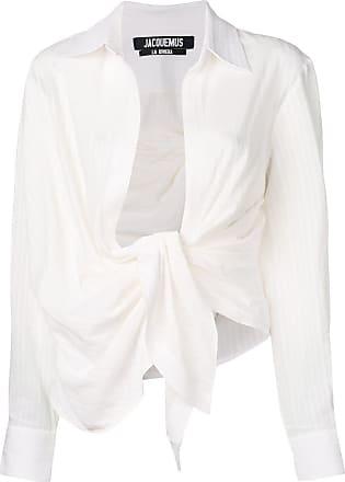 Jacquemus Camisa listrada - Branco