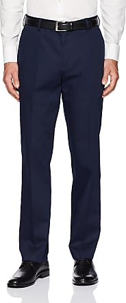 Van Heusen Mens Air Straight Fit Flat Front Chino Casual Pants, Blue, 34W x 30L