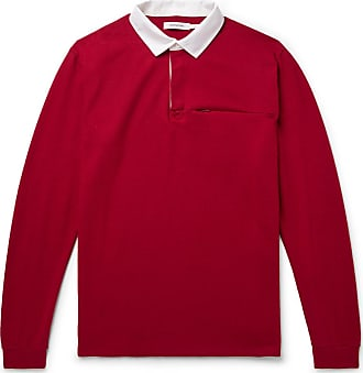 Nonnative Contrast-trimmed Wool-felt Rugby Shirt - Red