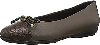 Geox Womens Annytah 6 Ballet Round Toe Flats with Bow-Arch Support and Cushioning, Chestnut, 37 Medium EU (7 US)