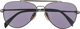 David Beckham Óculos de sol aviador com lentes coloridas - Preto