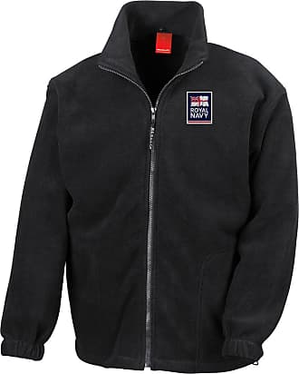 Military Online Royal Navy Flag Logo Official MOD - Full Zip Heavyweight Fleece Jacket