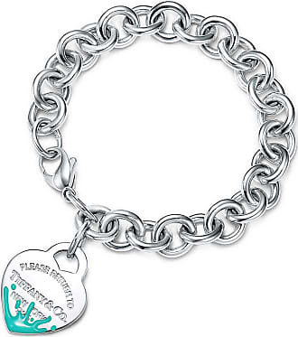 Tiffany & Co. Return to Tiffany Color Splash Armband mit Herzanhänger in Silber, X-Small - Size Extra Small