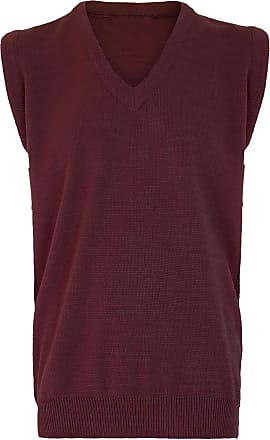 21Fashion Mens Sleeveless V Neck Knitted Slipover Sweater Adults Golf Sports Wear Tank Top Wine Large