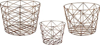 Dimond Home Nested Geometric Copper Baskets