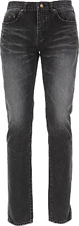 Saint Laurent Jeans On Sale in Outlet, Dark Black, Cotton, 2017, 29 30 31