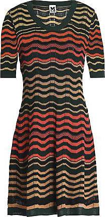 M Missoni M Missoni Woman Crochet-knit Mini Dress Dark Green Size 36