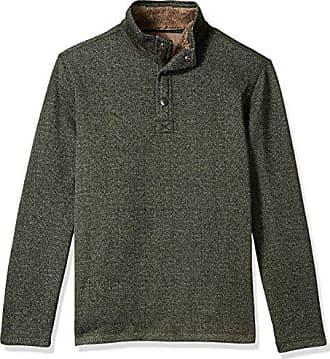 G.H. Bass & Co. Mens Madawaska Button Mock Long Sleeve Fleece, Forest Night, 2X-Large
