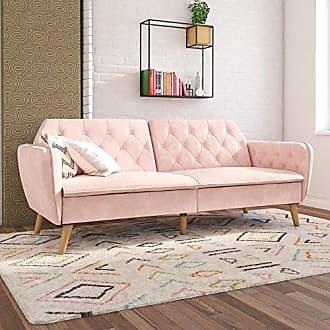 Dorel Home Products Novogratz Tallulah Memory Foam Futon, Pink