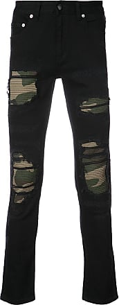Gods Masterful Children Distressed camouflage panel jeans - Black