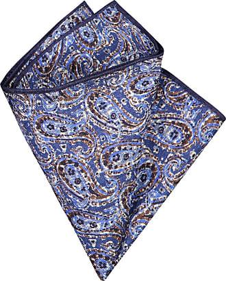 Altea Übergröße : Altea, Leinen-Einstecktuch mit Paisleymuster in Blau für Herren