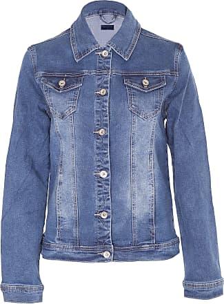 Noroze Womens Washed Detail Denim Jacket (Blue DG8262, 14)