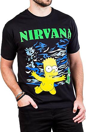 Bandalheira Camiseta Nirvana Simpsons Bart Manga Curta