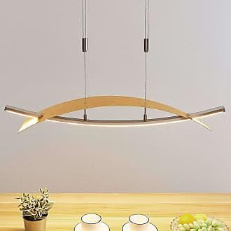 Lucande Lámpara colgante LED Marija, horizontal, dorado