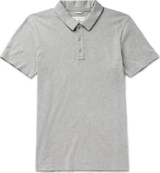 Reigning Champ Slim-fit Mélange Pima Cotton-jersey Polo Shirt - Gray