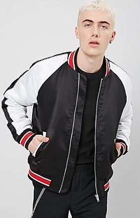 21 Men Colorblock Varsity Jacket at Forever 21 Black/white
