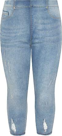 Yours Clothing Clothing Womens Plus Size Cropped Jenny Jeggings Size 24 Blue