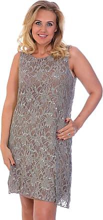 Nouvelle Collection Flapper Lace Dress Mocha 20-22